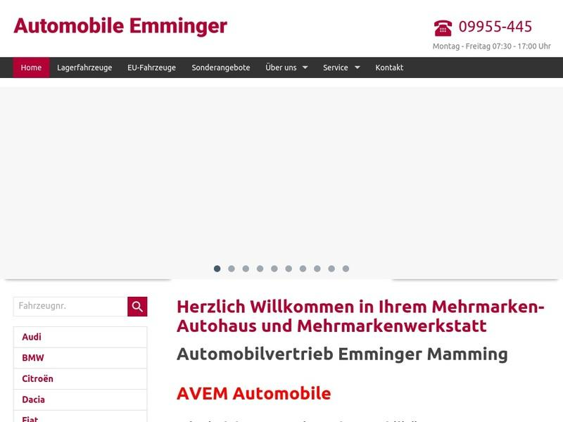 Screenshot von www.automobile-emminger.com